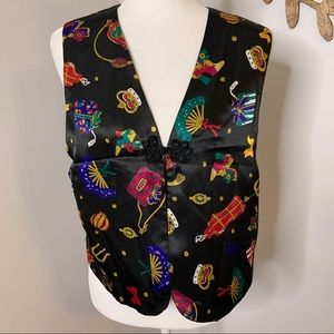Vintage DVF color authority vest small
